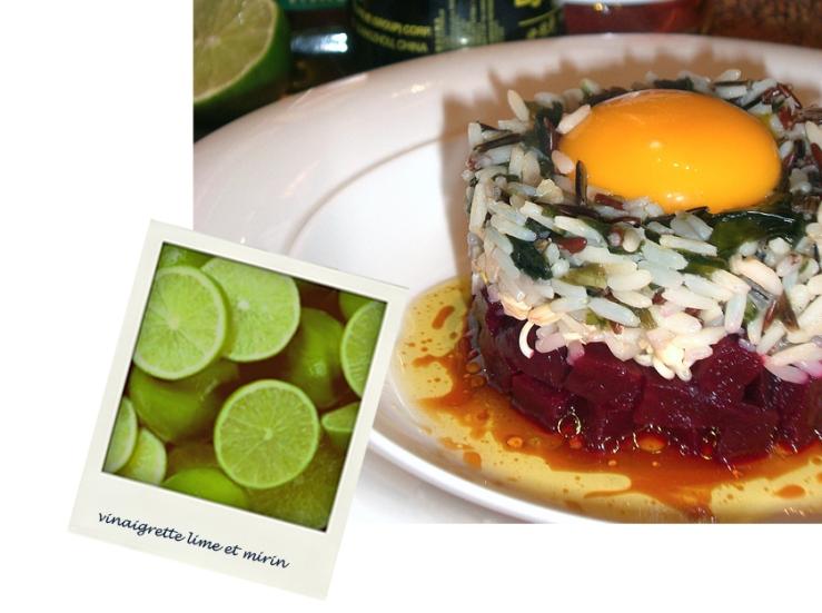 Le bibimbap coréen et sa sauce vinaigrette au nuoc mam, mirin et citron vert