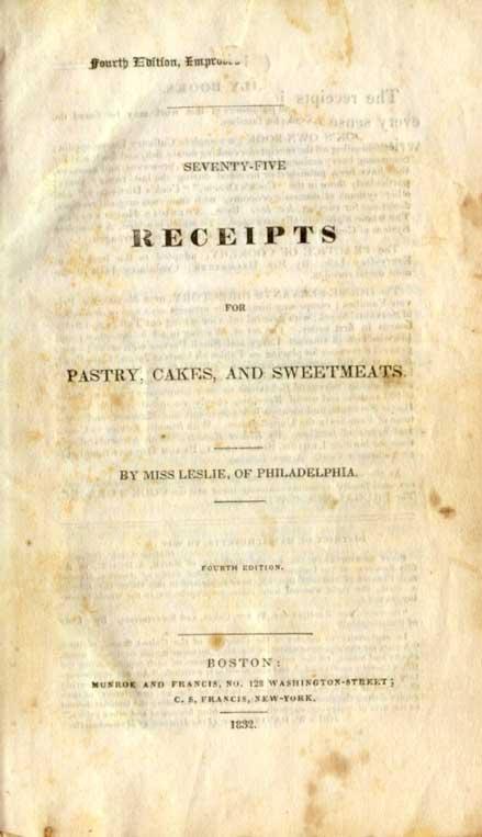Quatrième edition de l'ouvrage d'Eliza Leslie