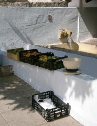 fruits et légumes sur le lavoir de Guadalest, Espagne