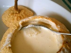 patisson blanc crémé cuit ouvert