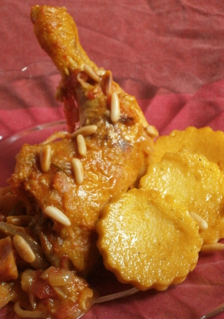 médaillons de polenta à l'origan rissolés dans le beurre
