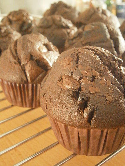 muffins double chocolat facile