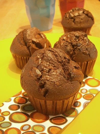 muffins double chocolat
