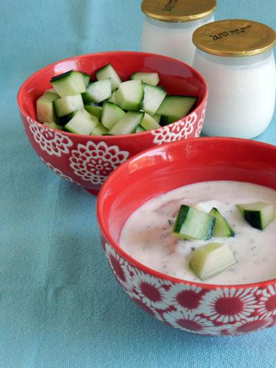 recette facile concombre yaourt