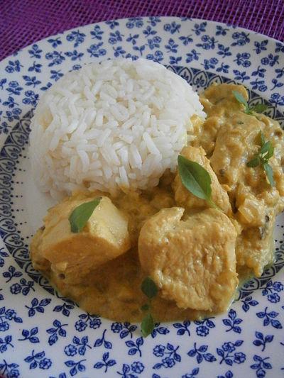 recette facile poulet au curry