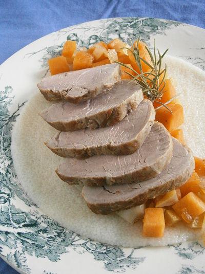 recette facile filet mignon de porc courge citron confit mélasse de grenade