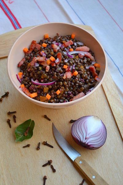 recette facile rapide salade de lentilles vertes