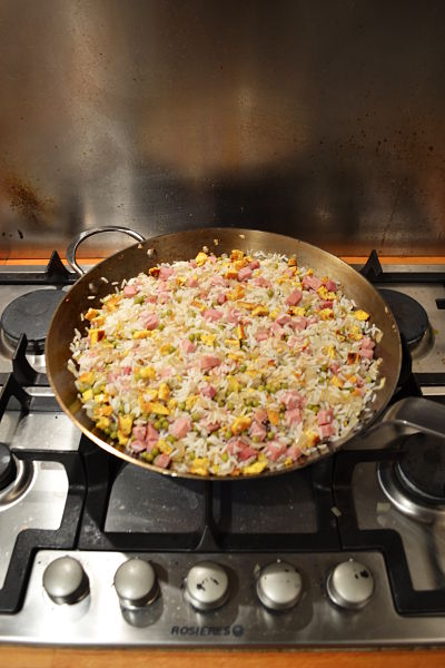 riz cantonais recette facile rapide chinois