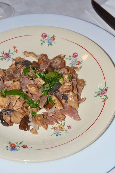 recette facile champignon des bois jambon de parme bolet pied de mouton
