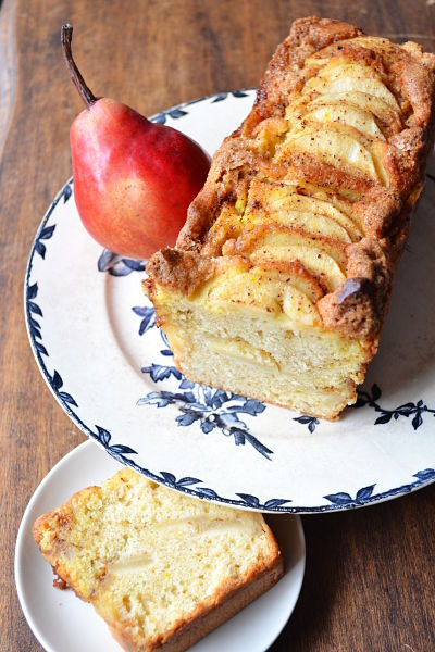 recette facile cake poire cannelle vergeoise