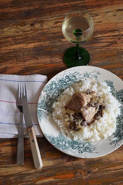 recette facile filet mignon porc riesling champignons noirs creme