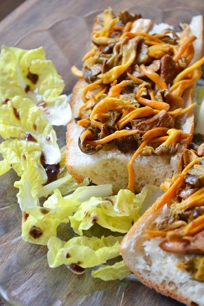 recette facile rapide chanterelles tartines champignons