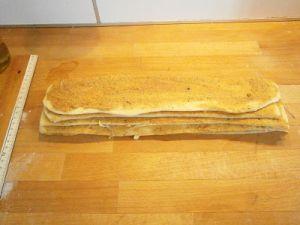 recette facile brioche cannelle vergeoise bandes de pâte empilées