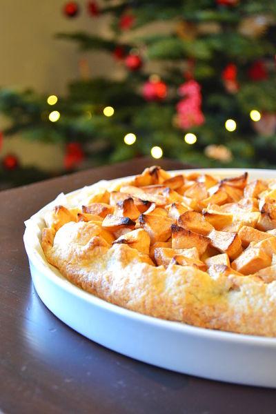 recette facile rapide tarte aux pommes rustique vergeoise