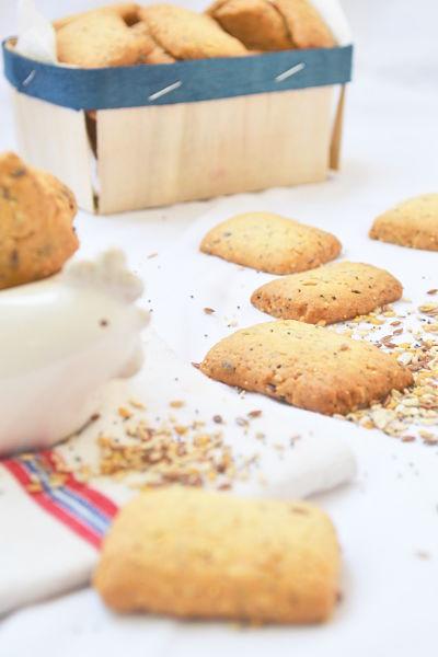 recette facile rapide biscuit cocotte graines lin pavot sesame tournesol