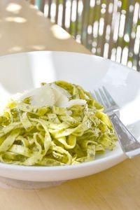 recette facile rapide pesto basilic pates italie huile olive