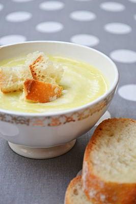 potage parmentier veloute soupe poireau pomme de terre recette facile rapide