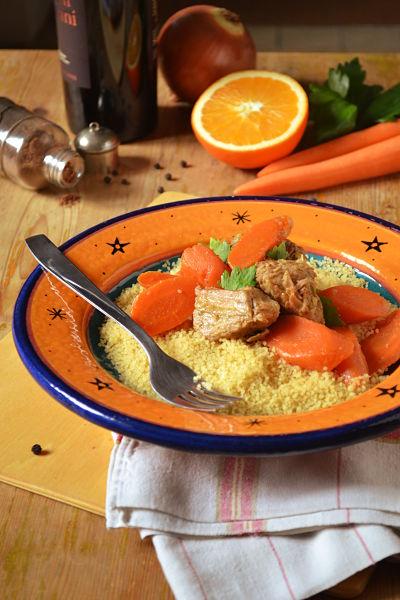 sauté de veau aux carottes et orange et ras el hanout