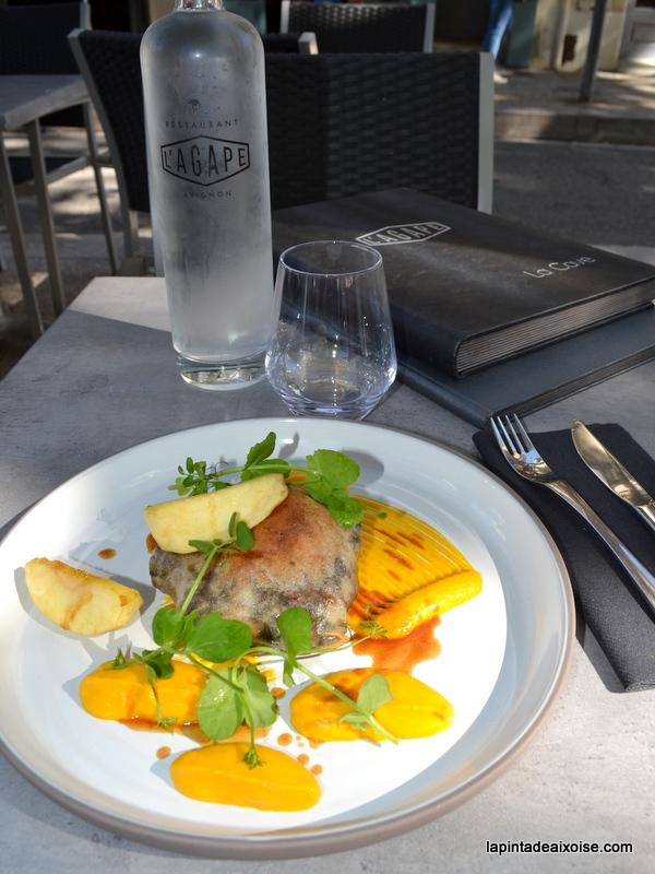 pastilla canard agape restaurant avignon place des corps saints julien gleize bistronomie