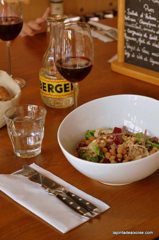 les evades aix en provence restaurant salade pois chiche sarrazin